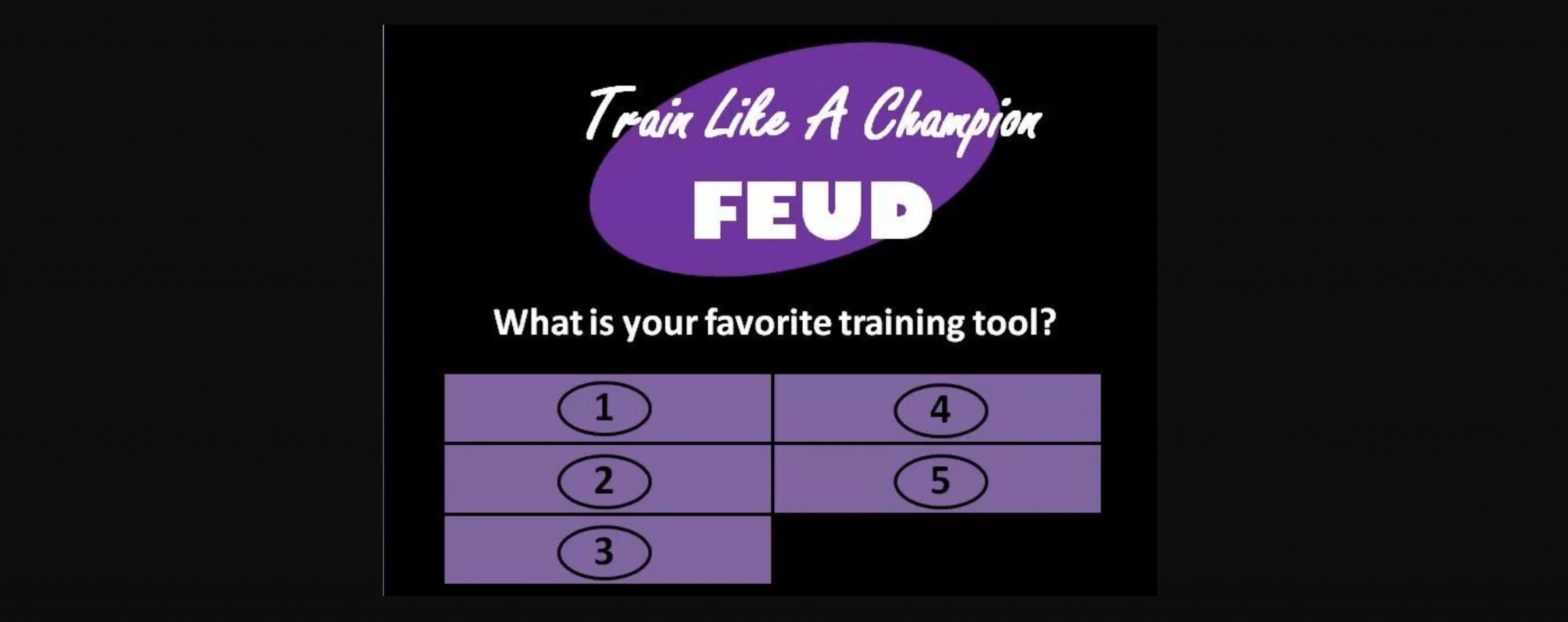 survey says! creating training games like family feud with, Powerpoint templates